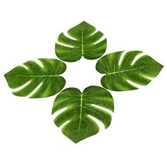 12Pcs 8'' Imitation Plant Leaves Hawaiian Luau Party Jungle BeachTheme Decorations for Birthdays Prom Events (green) - intl - 3