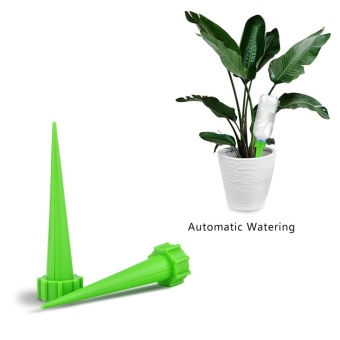 12pcs Automatic Garden Cone Watering Spike Water Control Drip ConeSpike Flower Plant Waterers Bottle Irrigation System Care YourFlowers - intl