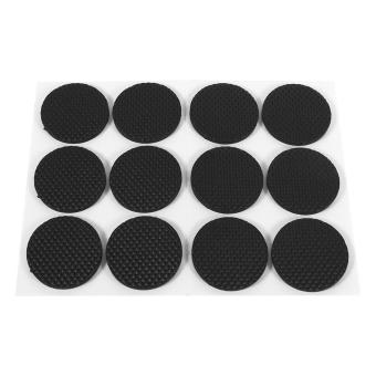 12Pcs Self Adhesive Non-slip Furniture Rubber Pad - intl