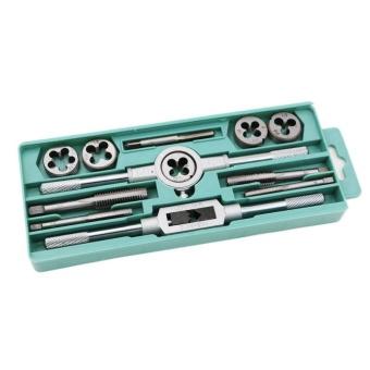 12Pcs/Set Metric Adjustable Taps Dies Wrench Handle Tap And Die KitM3-M12 Screws - intl - 2