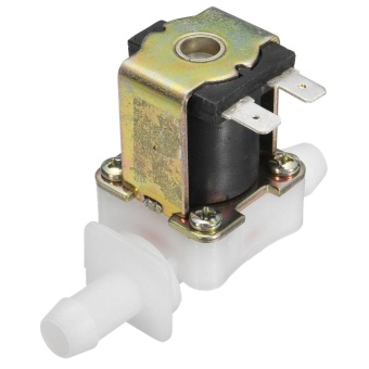 12V 12mm N/C Plastic Electric Solenoid Valve Magnetic Water Air Normally Closed Sliver - intl