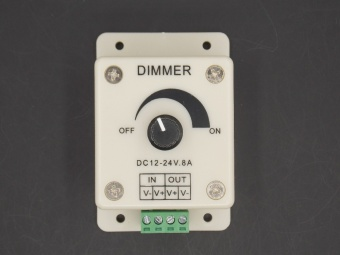 12V 24V DC 8A Balck Single Color LED Dimmer Switch Brightness Controller for led lamp strip light Sensor - intl