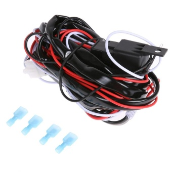12V 40A LED Work Light Wiring Harness Relay Kit ON/OFF Switch(Black) - intl