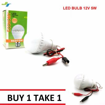12V 5W LED Light Bulb with Clip Lamp For Outdoor Camping 2 Sets