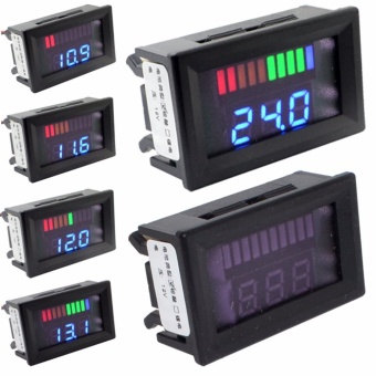 12V ACID Lead Battery Capacity Indicator Charge Level LED TesterBlue Voltmeter - intl