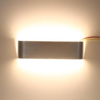 12W Aluminum LED Wall Lamp Bathroom Light (Silver Warm White) - intl
