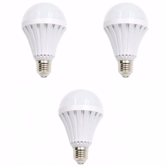 12W Intelligent Water Power Emergency Magic Light Bulb Set of 3