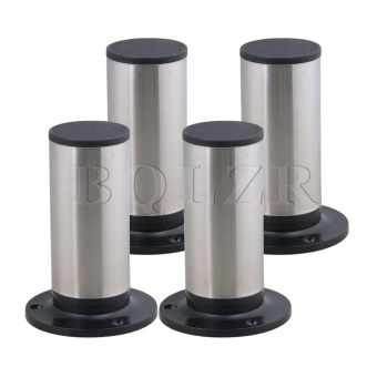 12x8.5cm Furniture Table Sofa Bed Cabinet Legs Feet Set of 4 Silver- intl