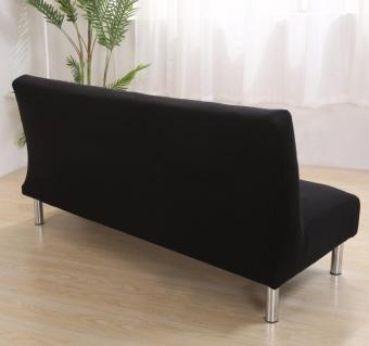 135-185cm Soild Color Elastic Foldable Sofa bed Cover No Handrail Sofa Slipcovers - intl - 3