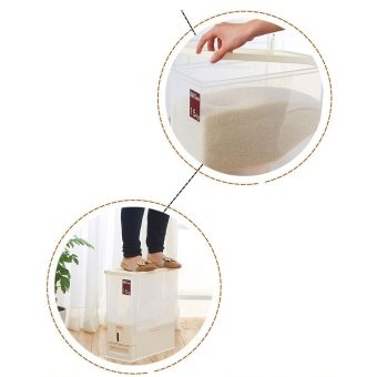 15KG Transparent Rice Dispenser Storage Container - intl - 5