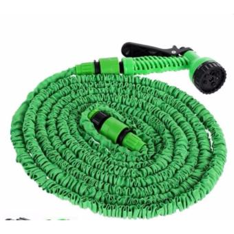 15m/50ft Expandable Flexible Garden Hose Up By Magic Hose wash car water pipe(green)