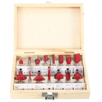 15PCS 1-4-Professional Shank Tungsten Carbide Router Bit Set WoodCase box