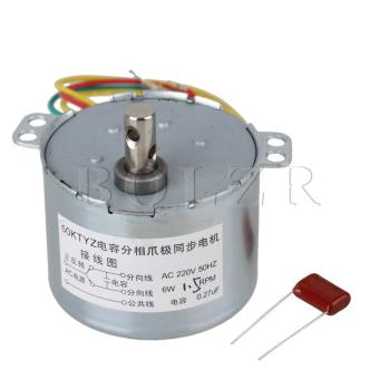 1.5RPM AC220V Gear Motor Synchronous Electric Motor Silver - intl Price Philippines