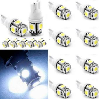 15X T10 5050 W5W 5 SMD 194 168 LED White Car Side Wedge Tail Light Lamp Bulb 12V - intl
