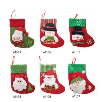 16*9*12cm Christmas Candy Gift Bag Xmas Hanging Decor (A1107 Bear) - intl - picture 2