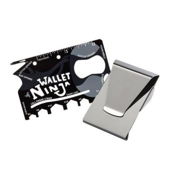 18-in-One Wallet Ninja Tool with a Sleek Double Sided Money &Credit Card Clip