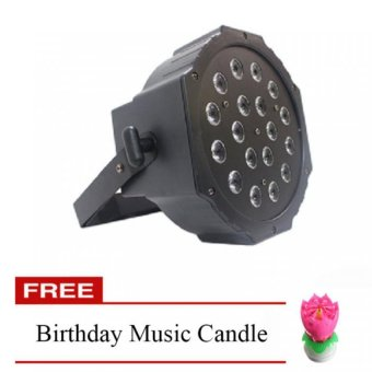 18LED Par Light with FREE Birthday Rotating Music Candle