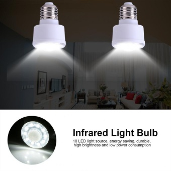 1.8W 220V PIR Infrared Motion Sensor 10 LED Lamp Bedroom Energy Saving Light Bulb (Thread Type) - intl