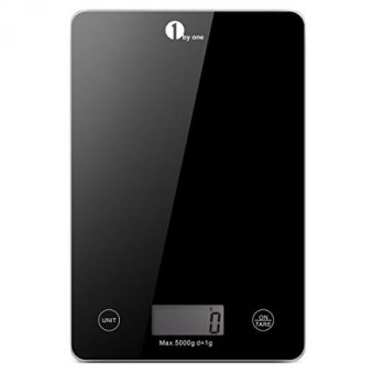 1byone Food Scale Digital Kitchen Scale Weigh in Gram LB and OZ Cooking Scale Baking Scale, Digital Coffee Scale from 0.17oz up to 11 lbs, Weigh Max 5000g (11lbs), Black - intl