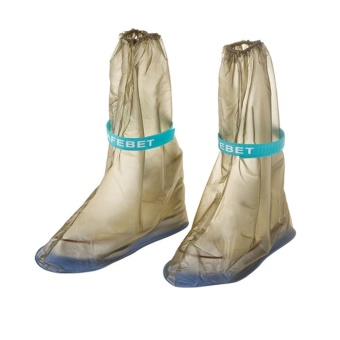 1Pair Portable Waterproof Anti-Slip Reusable Rain Shoe Covers Overshoes Rain Boots Cover Rain Gear Raincoats Accessories, Brown, Small - intl Price Philippines