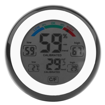 1Pc Creative Digital LCD Temperature Thermometer HygrometerElectronic Humidity Meter (Black) - intl