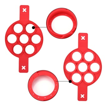 1Pc Home Non-stick Fantastic Pancake Silicone Ring Maker KitchenFrying Egg Omelets Mold(Red) - intl - 5