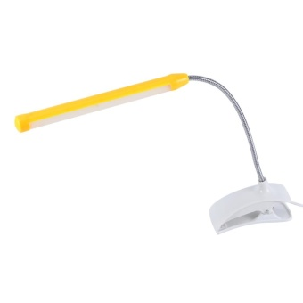 1Pc USB LED Light Clip-on Clamp Bed Table Study Desk Reading Lamp Yellow - intl