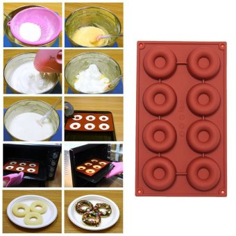 1PCS 8/18-Cavity Diy Donut Shape Round Muffin Sweet Candy JellyFondant Cake Chocolate Mold Silicone Tool Baking Pan - intl Price Philippines