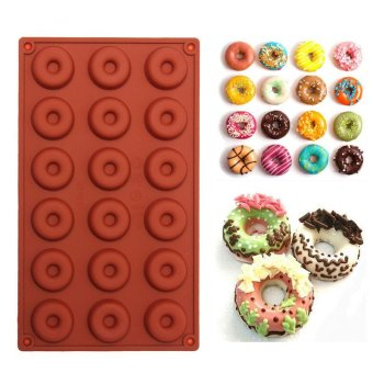 1PCS 8/18-Cavity Diy Donut Shape Round Muffin Sweet Candy JellyFondant Cake Chocolate Mold Silicone Tool Baking Pan - intl