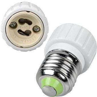 1Pcs E27 to GU10 Adapter Light Lamp Bulb Socket Adapter Converter White NEW
