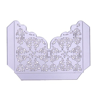 1pcs Greeting Card Stencil Craft Embossing Cut Die Silver (For DIY)- intl