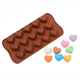 1Pcs Silicone Heart Shape Chocolate Mold Christmas Fondant Cake Pan Baking Mould Bakery Pastry Cake Tools Kitchen Accessories - intl