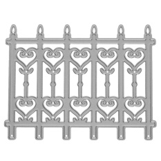 1Pcs Silver Fence Door Metal Die Cutting Dies Stencil DIY ScrapbookEmbossing Craft - intl