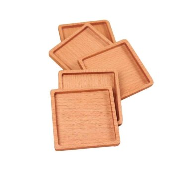 1Pcs Square And Round Mini Wooden Pallet Whiskey Wine Glass Cup Mat Pad Hot Cold Drink Coasters Mug Wood Kitchen Table Mats