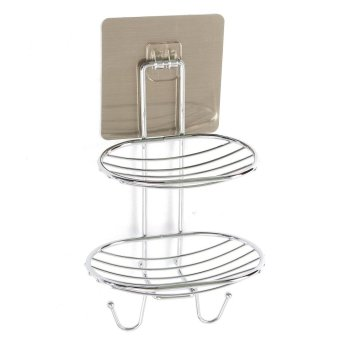 2 Deck Soap Holder Dish Basket Hook Bathroom Shower Tray Wall Strong Suction Cup Type2 - intl - 2
