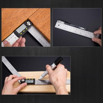2-in1 Digital Angle Finder Meter Protractor Goniometer Ruler 200mm360? Measurer - intl