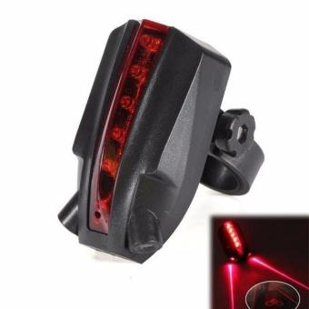 2 Laser+5 LED Rear Bike Bicycle Tail Light Beam Safety Warning .
