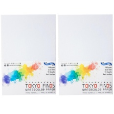 Drawing paper for sale sketch paper prices brands review in 2 packs of tokyo finds watercolor paper cold press 4 x 6 inches malvernweather Choice Image