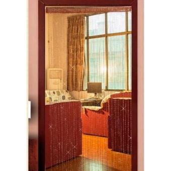 2 pcs 90x200cm Glitter String Tassle Divider Screen Window DoorCurtain Panel White Pink Red Purple Grey Rose - intl - 2