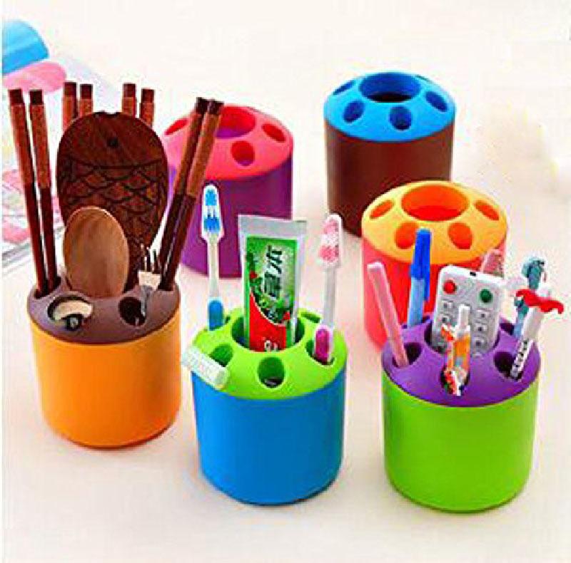 Bathroom Shelves Creative Toothbrush. Source · 2 PCS Multi-purpose Porous .