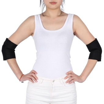 2 pcs/set Self-heating Tourmaline Elbow Support Brace Pad HealthCare Arthritis Protector Belt - intl