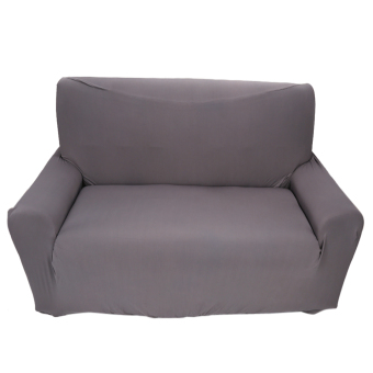 2 seater Sofa Anti-mite Soft Couch Slipcovers Grey - intl