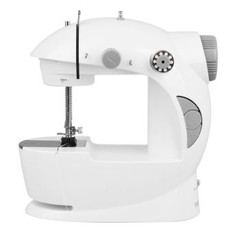 2-Speed Mini Electric Sewing Machine withFREEAccessories(White/Gray)