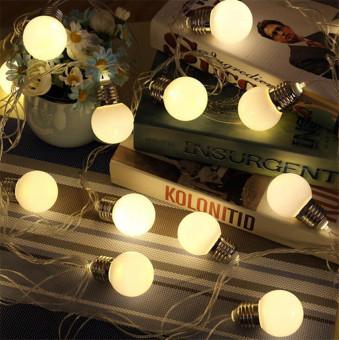 20 LED 16ft/5m Globe String Lights Warm White Ball Light for Garden Party - 2