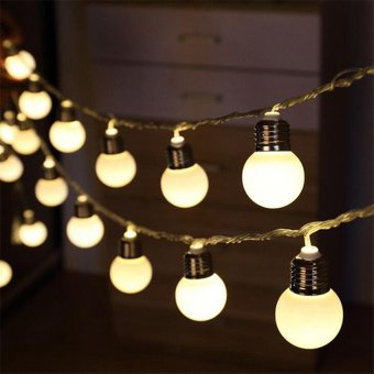 20 LED 16ft/5m Globe String Lights Warm White Ball Light for Garden Party