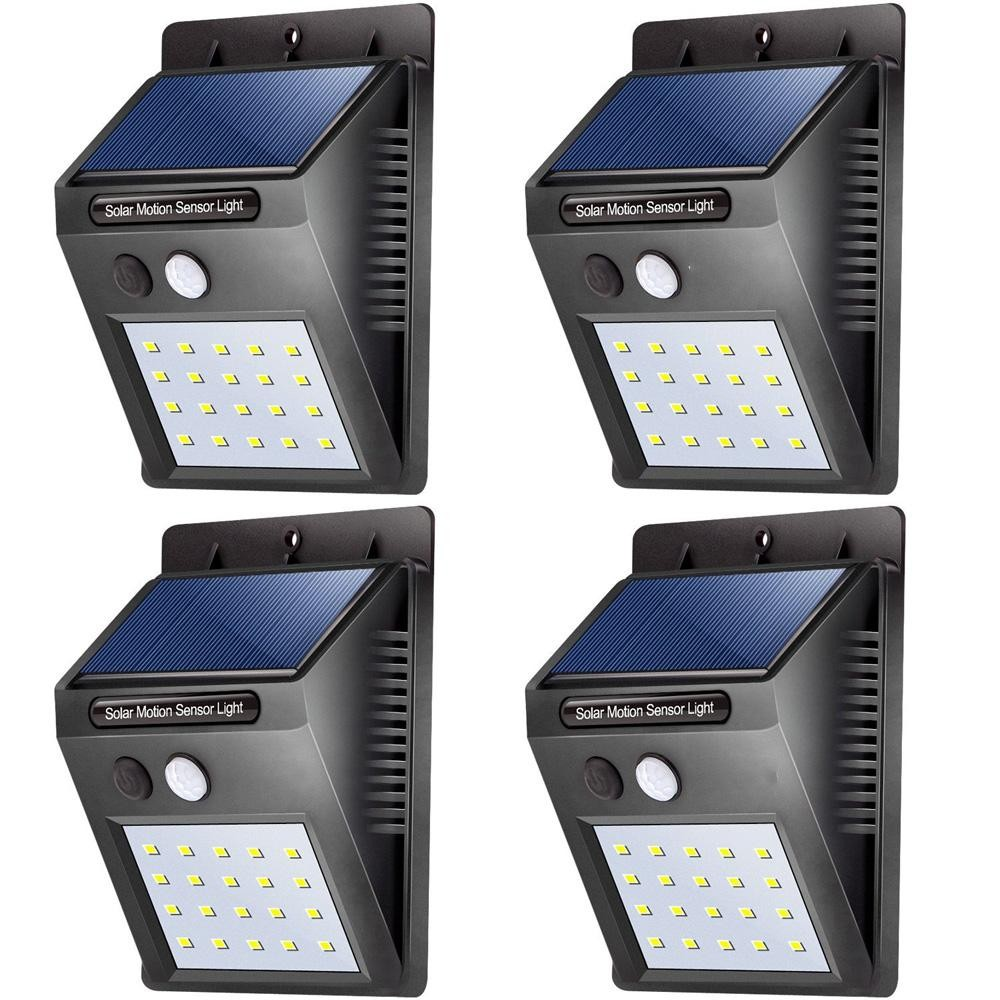 Led solar lights outdoor waterproof solar powered motion sensor 20 led solar lights outdoor waterproof solar powered motion sensor light wireless security lights outside wall lamp mozeypictures Image collections