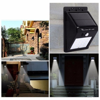 20 LED Solar Powered Sensor Light Outdoor Garden Security Wall Light Lamp - intl