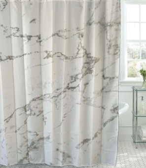 200 cm partition marble pattern with lead sinkers shower curtain cloth