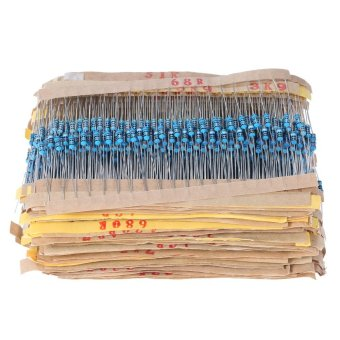 2000pcs 1/4W 100 Values 1 ohm to 1M ohm Metal Film ResistorsAssortment Kit Electronic Components - intl