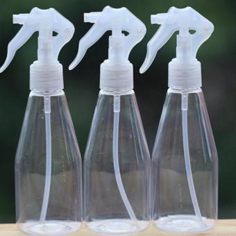 200ml Plastic Clear Empty Hand Trigger Water Spray Bottle CleaningGarden (White)